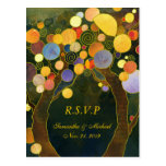 Whimsical Love Trees Wedding RSVP Cards (4.25x5.6) Post Card