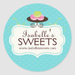 Whimsical Macaron Labels Sticker