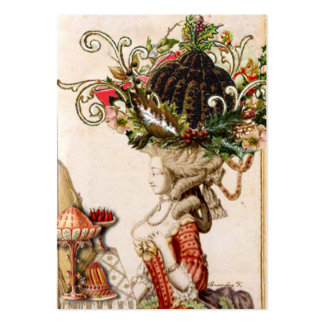 Whimsical Marie Antoinette Let them eat pudding! Large Business Card