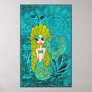 Whimsical Mermaid Poster