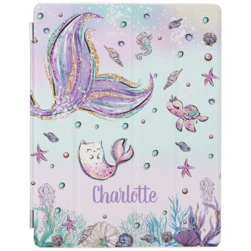 Whimsical Mermaid Tail Mercat Under the Sea iPad Smart Cover