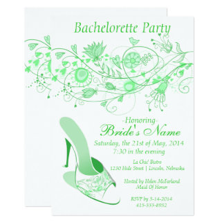 Whimsical Minty Green Bachelorette Party 1 Card