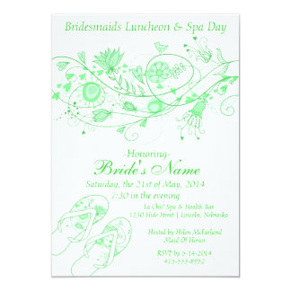 Whimsical Minty Green Bridesmaid Lunch & Spa 1 Card