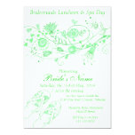 Whimsical Minty Green Bridesmaid Lunch & Spa 1 Personalized Announcement