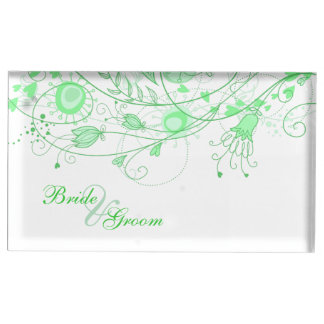 Whimsical Minty Green Table Card Holder 1