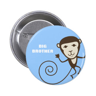 Whimsical Monkey Big Brother Buttons