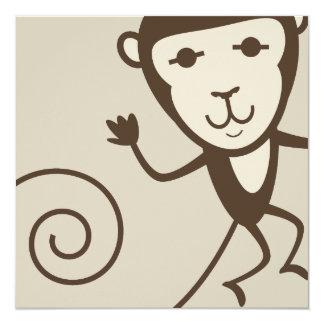 Whimsical Monkey Card