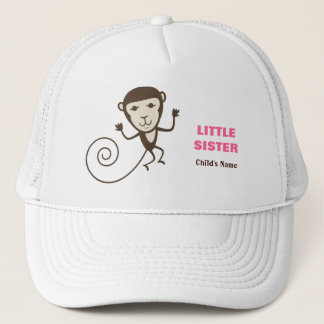 Whimsical Monkey Little Sister Trucker Hat