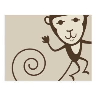 Whimsical Monkey Postcard