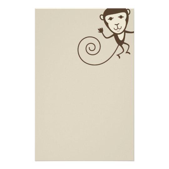 Whimsical Monkey Stationery
