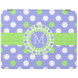 Whimsical Monogrammed Polka Dot iPad Cover