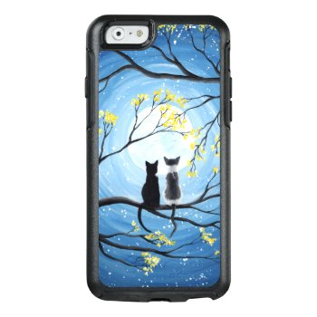 Whimsical Moon With Cats Otterbox Iphone 6/6s Case by ironydesignphotos at Zazzle