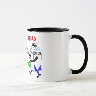 whimsical mug milk carton and cookie coffee cup