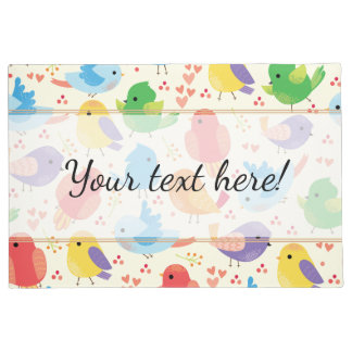 Whimsical Multicolor Birds Pattern Doormat