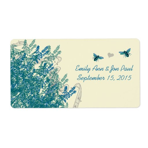 Whimsical Musical Bumble Bee Save the Date Labels