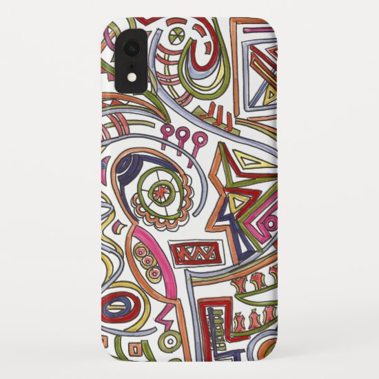 Whimsical Musical Colorful Abstract iPhone XR Case
