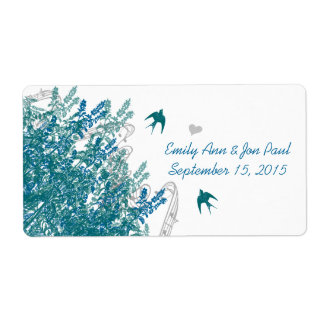 Whimsical Musical Vintage Birds Save the Date Label