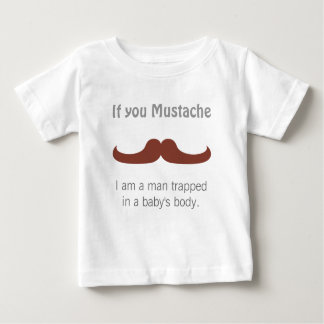 Whimsical Mustache for Baby Boys T Shirt