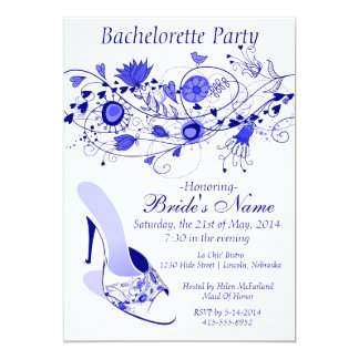 Whimsical Navy Blue Bachelorette Party 1 Card