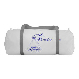 Whimsical Navy Blue Wedding Day Gym Bag