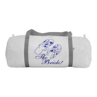 Whimsical Navy Blue Wedding Spa Day Gym Bag