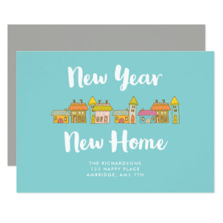 Whimsical New Year New Home Announcement
