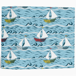 Whimsical newspaper boats binder