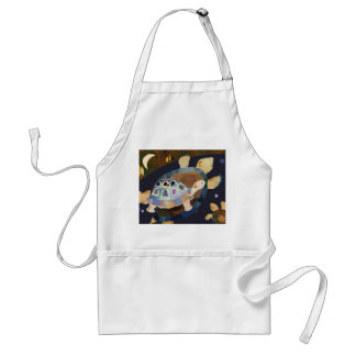 Whimsical Night Turtles Adult Apron