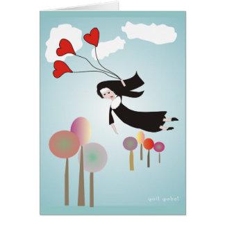 Whimsical Nun Art Gifts Greeting Card