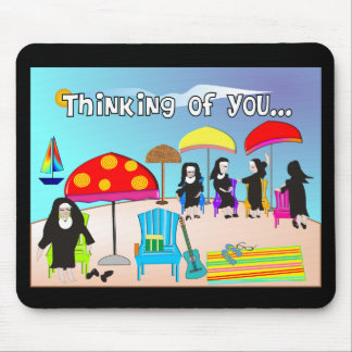 Whimsical Nun Art Gifts & Cards Mouse Pad