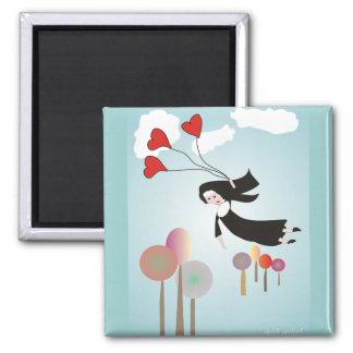 Whimsical Nun Art Gifts Magnet