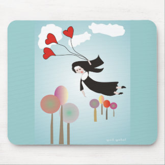 Whimsical Nun Art Gifts Mouse Pad