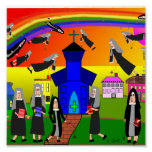 "Whimsical Nuns Canvas Art ""Flying Nuns"" Posters"