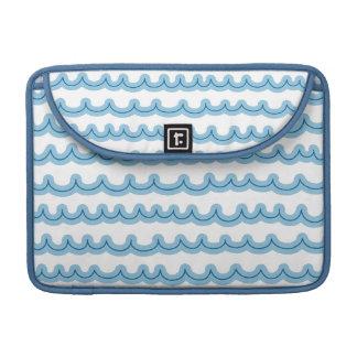 Whimsical Ocean Waves MacBook Pro Sleeves