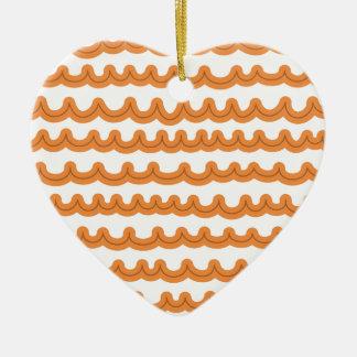 Whimsical Ocean Waves Melon Ceramic Ornament