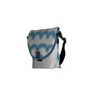 Whimsical Ocean Waves Courier Bag