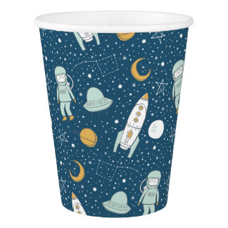 Whimsical Outer Space Party Cups