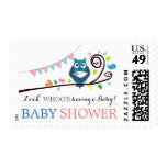 Whimsical Owl Baby Shower Postage