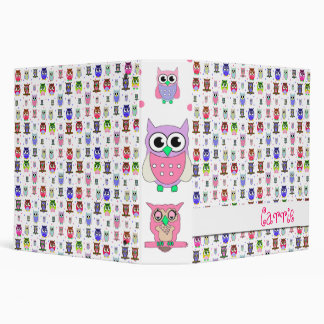 Whimsical Owl Binder