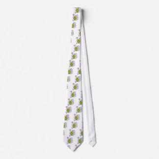 Whimsical Owl Illustration Neck Tie
