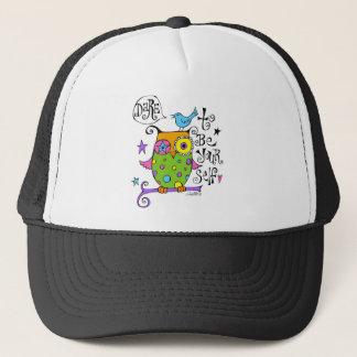 Whimsical Owl Illustration Trucker Hat