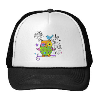 Whimsical Owl Illustration Trucker Hat