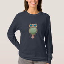 Whimsical Owl Jewel T-Shirt