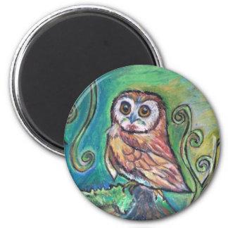Whimsical Owl Magnet