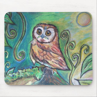 Whimsical Owl Mouse Pad