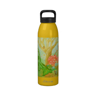 whimsical owl mushroom Water Bottle