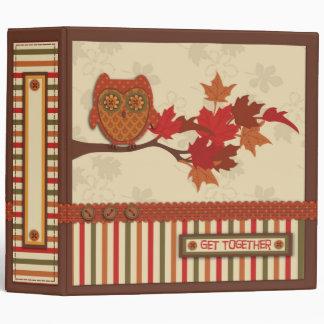 Whimsical Owl on Branch Thanksgiving Binder