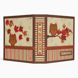 Whimsical Owl on Branch Thanksgiving Binder