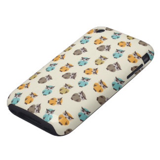 whimsical owl pattern tough iPhone 3 case