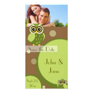 "Whimsical Owl  /photo  ""Save the Date"" Card"